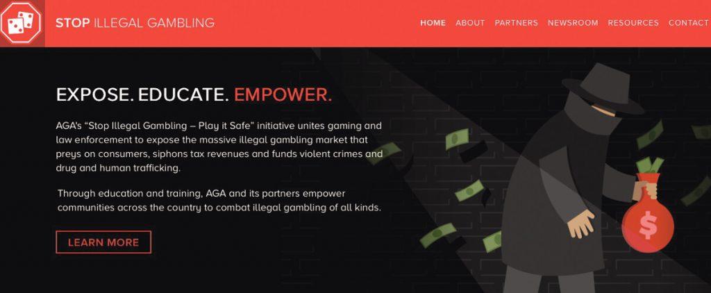 Illegal Gambling fight AGA