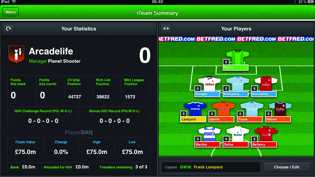 Fantasy iTeam mirror