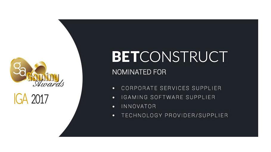 Betting Business International Gaming Awards IGA 2017 BetConstruct