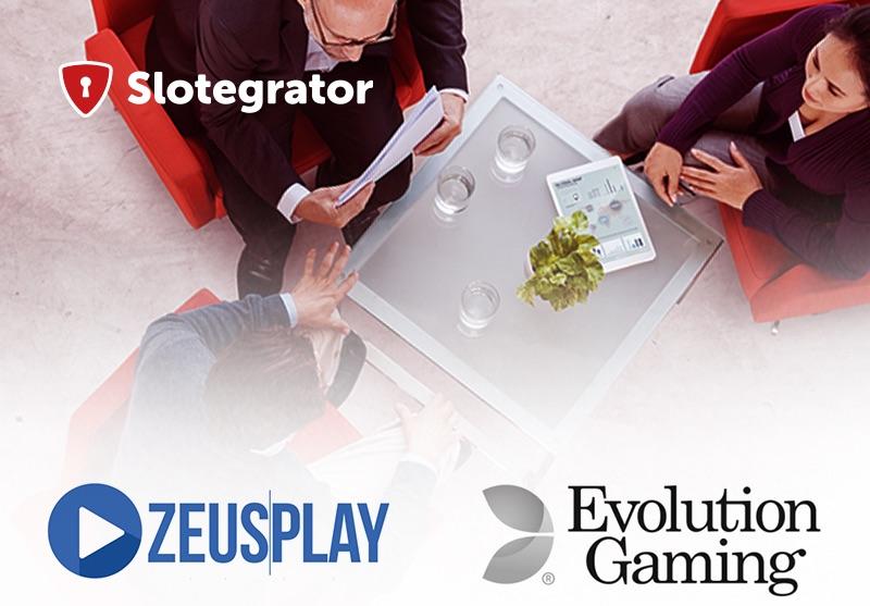 Betting Business - Partnerships Slotegrator ZeusPlay Evolution Gaming