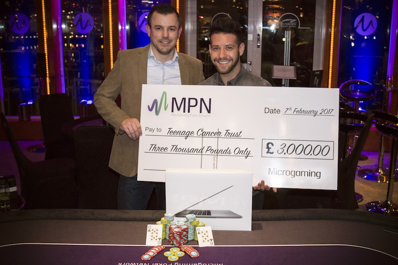 Casino Review - Microgaming MPN Charity poker tournament winner