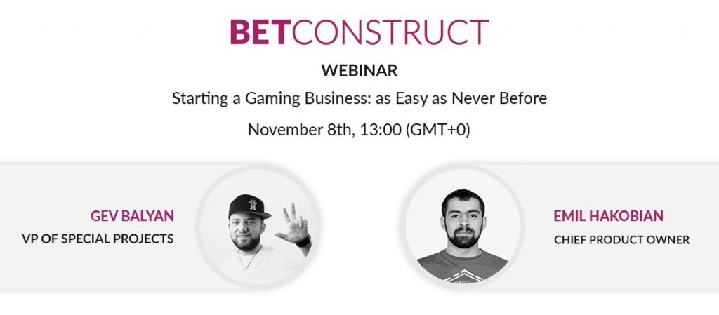 BetConstruct announce web seminars for starting a gaming business