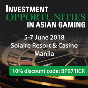 Investment Opportunities in Asian Gaming 2018 SB
