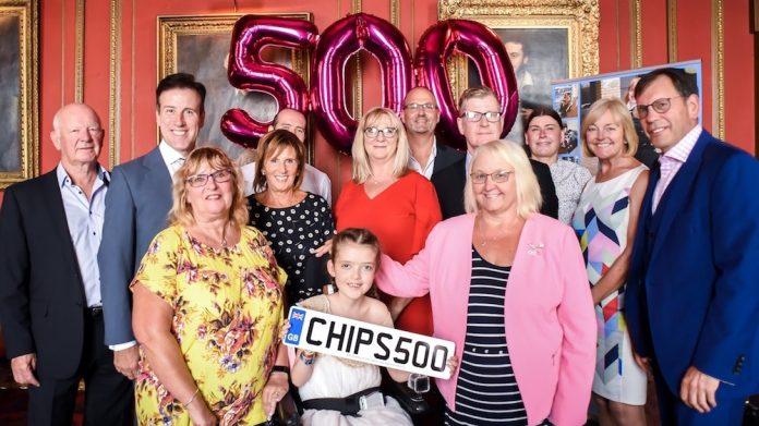 CHIPS charity Anton du Beke 500