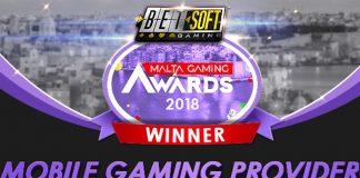 Betsoft Malta gaming awards mobile