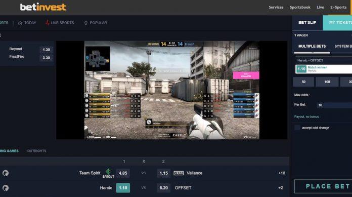 Betinvest esports iFrame Sportsbook operator
