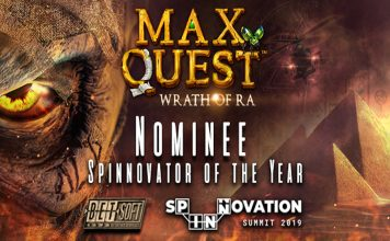 Max Quest: Wrath of Ra shortlist Spinnovator of the Year Award rn