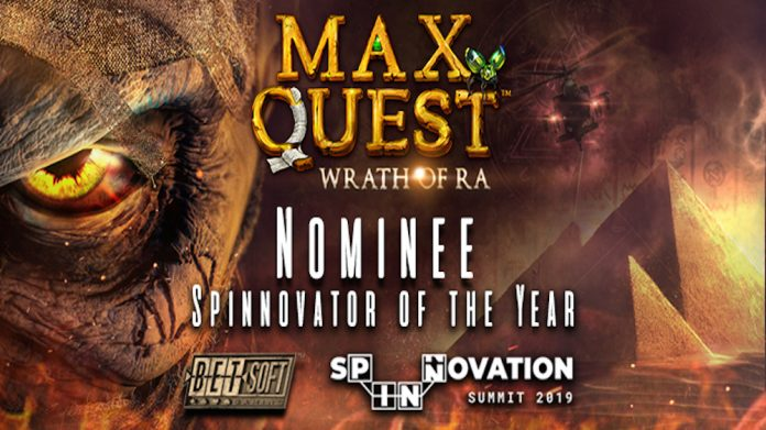 Max Quest: Wrath of Ra shortlist Spinnovator of the Year Award rn