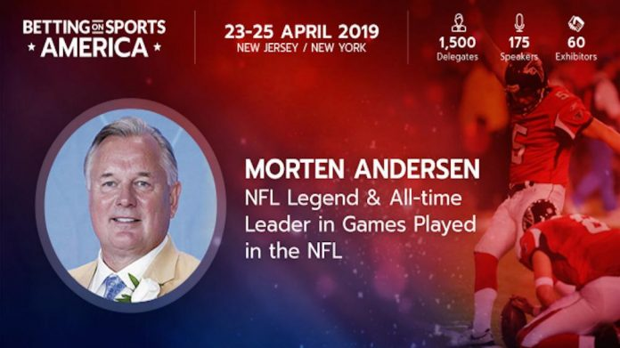 NFL, Great Dane, Better Collective, ambassador, Morten Andersen, Betting on Sports America