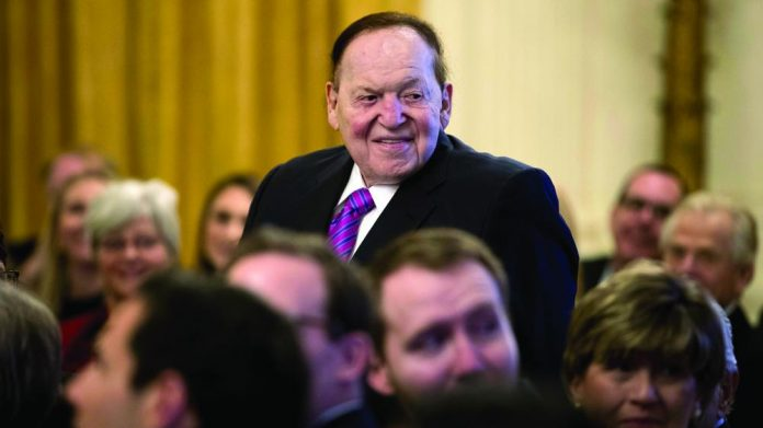 NJ Sues Justice lawsuit Sheldon Adelson