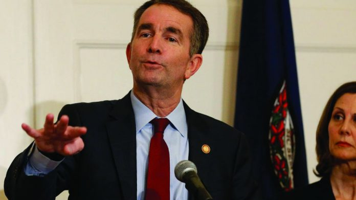 Virginia governor Ralph Northam gaming bill