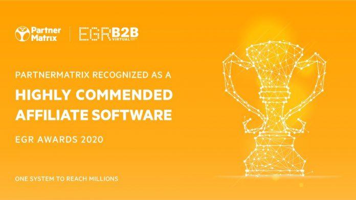 PartnerMatrix Affiliate software EGR Awards