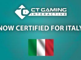 CT Gaming Interactive Italian market certified
