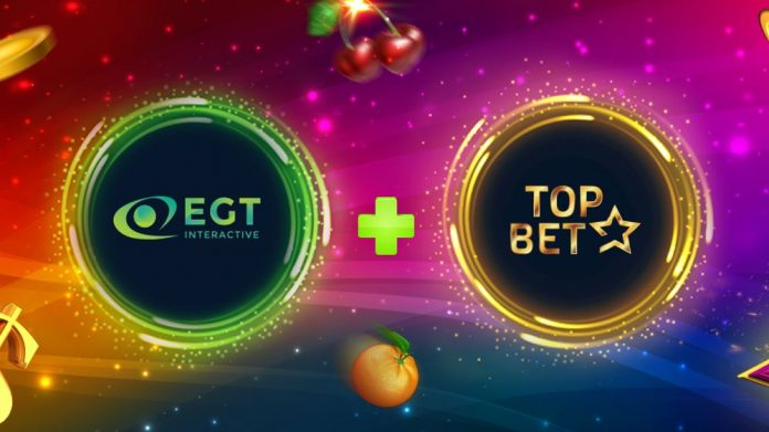 EGT Interactive Topbet partnership