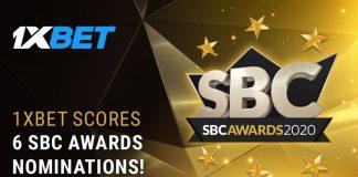 1xBet 6 nominations SBC Awards 2020