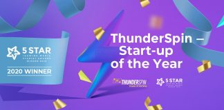 ThunderSpin Start-up year Starlet awards