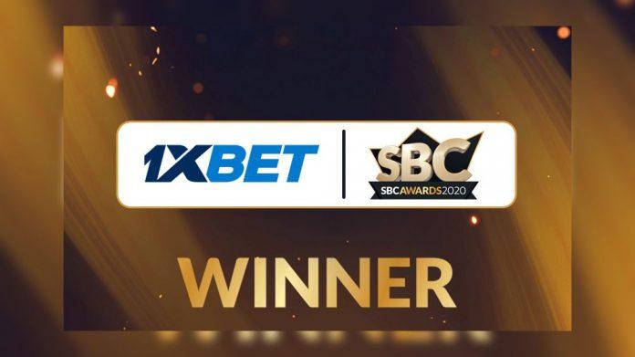 1xBet esports operator of the year SBC Awards