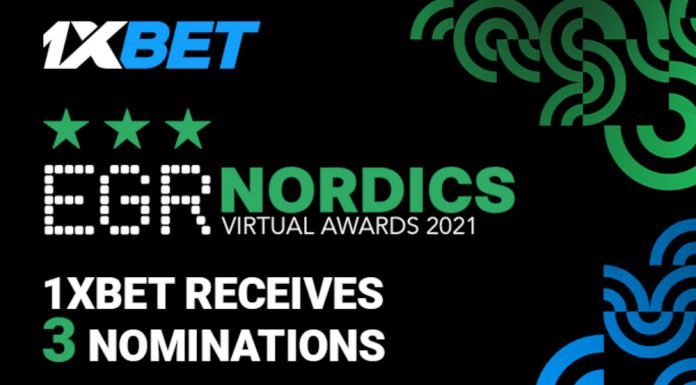 1xBet 3 nominations EGR Nordics Awards 2021