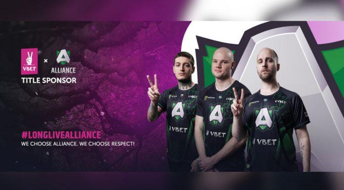 VBET sponsors esports team Alliance