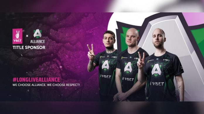 VBET sponsors esports team Alliance