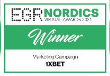 1xBet Nordics virtual awards winner