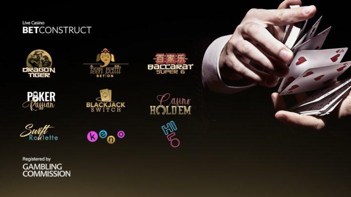 BetConstruct launch 9 new live casino games