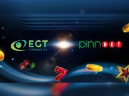 EGT Interactive Pinnbet content partnership