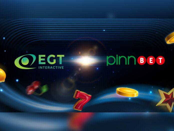 EGT Interactive Pinnbet content partnership