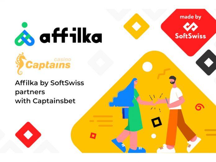 Affilka SoftSwiss Captainsbet partnership