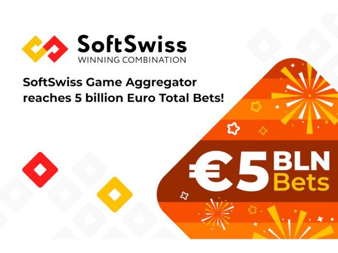 Game Aggregator SoftSwiss reaches record 5 billion euro total bets