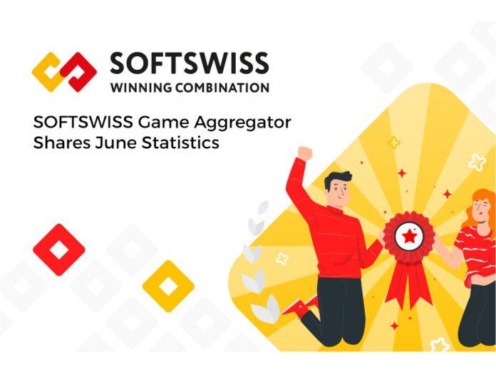 SOFTSWISS Game Aggregator June statistics