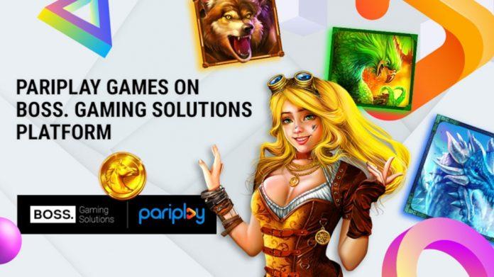 Pariplay on BOSS Gaming Solutions platform