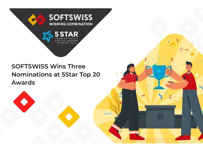 SOFTSWISS 5Star top 20 award