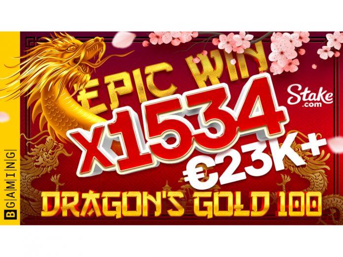 BGaming Dragons Gold 100 win