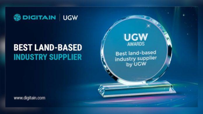 Digitain best land based supplier UGW award